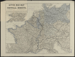 Letts's war map of Central Europe