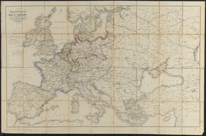 Bradshaw's map of Europe shewing the railways opened and in progress