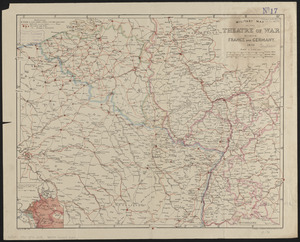 Military map of the theatre of war between France and Germany
