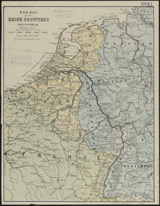 War map of the Rhine frontiers