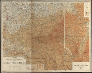 Philips' large scale contoured map of the Anglo-French front