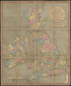 Wallis's tour through the United Kingdom of England, Scotland and Ireland, a new geographical game, comprehending all the cities, principal towns, rivers &c. in the British Empire