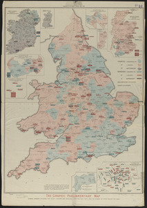 The Graphic parliamentary map showing members returned for county divisions and boroughs