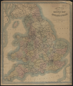 Cruchley's travelling railway map of England & Wales