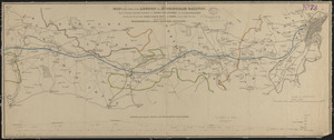 Map of the line of the London and Birmingham Railway