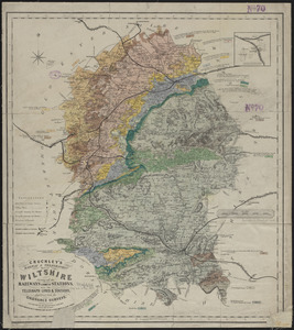 Cruchley's railway & telegraphic map of Wiltshire