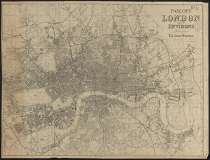 Pascoe's London and its environs, drawn from the latest surveys