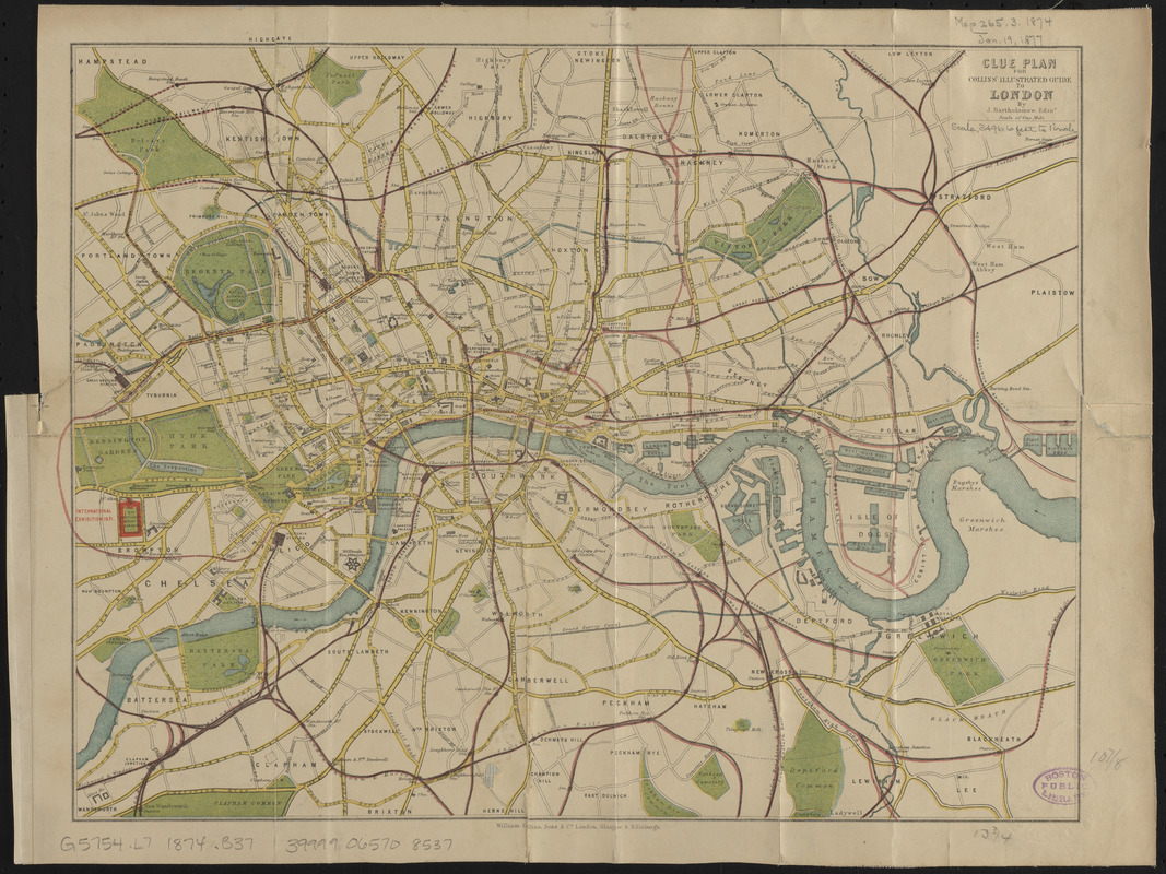 London Center Map.Clue Plan For Collins Illustrated Guide To London Norman B