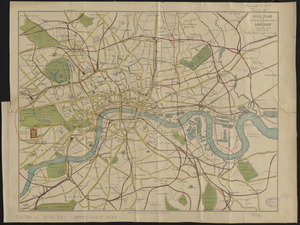 Clue plan for Collins' illustrated guide to London