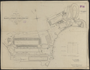 Plan of the East and West India Docks, 15th April 1841
