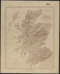Photo relief map of Scotland