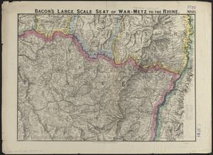 Bacon's large scale seat of war - Metz to the Rhine