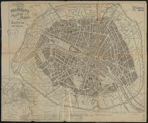 Bradshaw's plan of Paris, and map of the environs