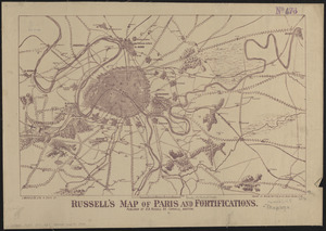 Russell's map of Paris and fortifications