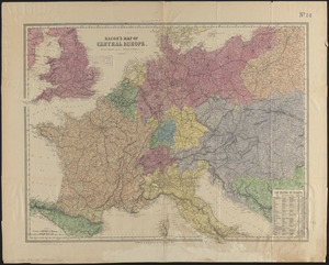 Bacon's map of Central Europe
