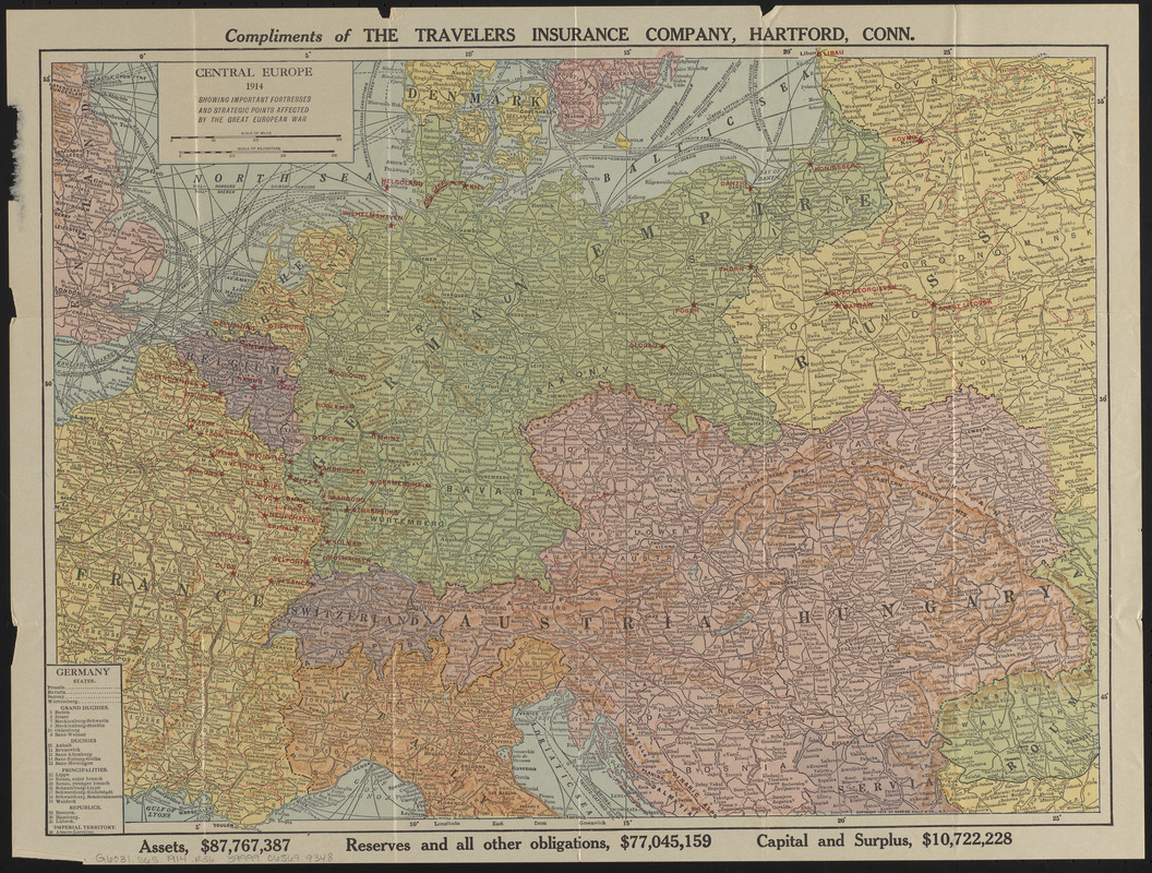 Central Europe, 1914 - Norman B. Leventhal Map & Education ...