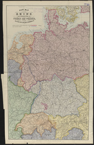 New map of the Rhine and borderlands of France and Prussia, shewing Belgium, Switzerland, Luxemburg, &c.