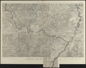 Detailed map of the seat of war from Chateau Salins to Mannheim & Worms to Strasbourg