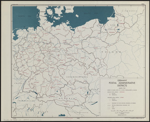 Germany, postal administrative districts, March 1943