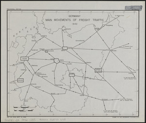 Germany, main movements of freight traffic, 1942