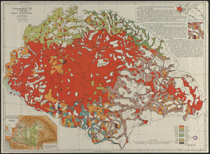 Ethnographical map of Hungary based on the density of population