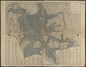 A topographical plan of modern Rome with the new additions