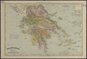 Rand, McNally & Co.'s new 14 x 21 map of Greece