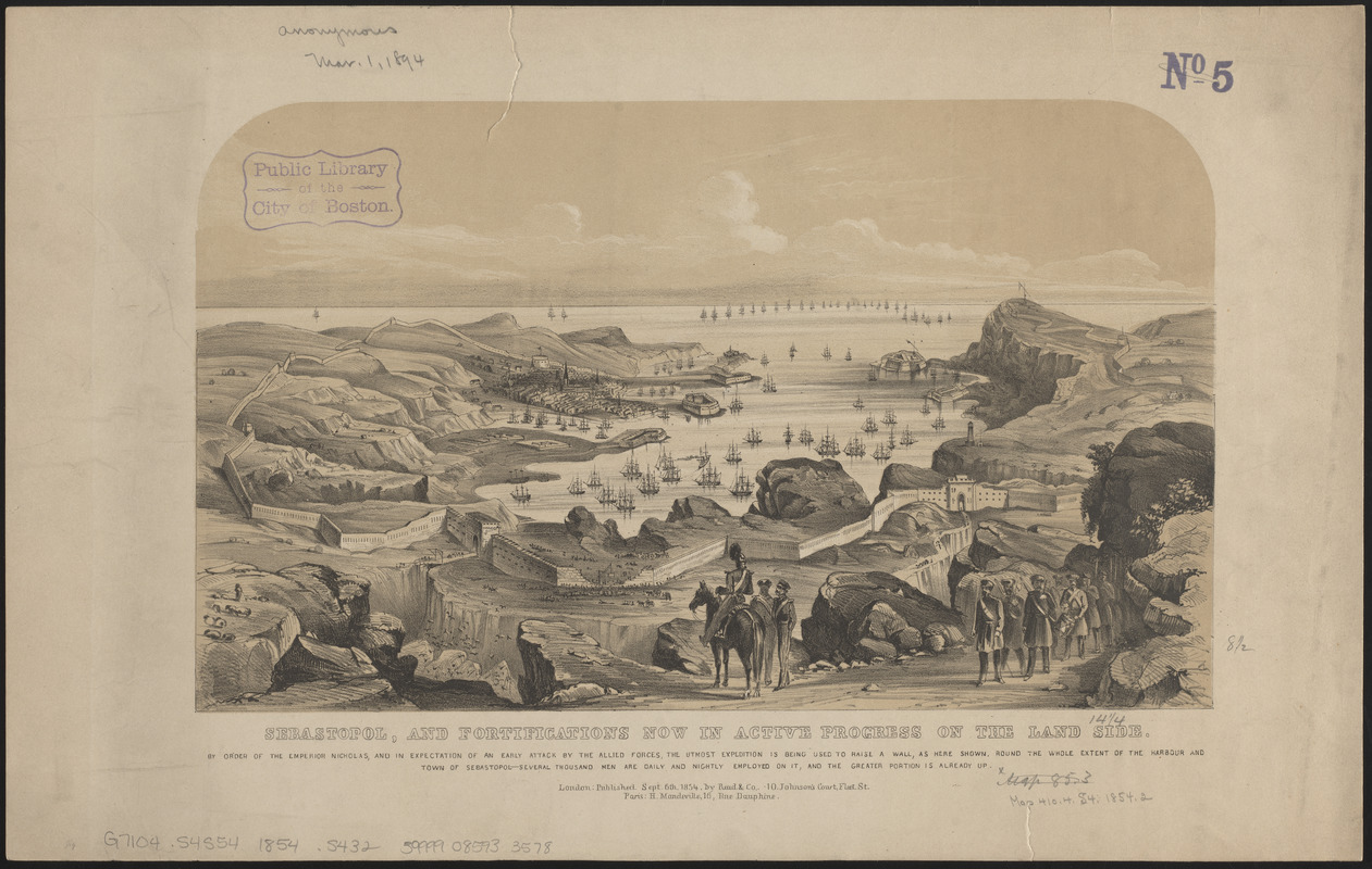 Sebastopol, and fortifications now in active progress on the land side