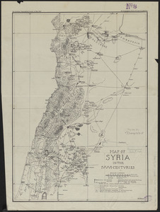 Map of Syria in the IV-V-VI centuries