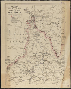 Philips' large scale military map of the seat of war on the Natal frontier