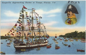 Gasparilla approaching harbor at Tampa, Florida