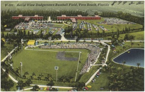 Aerial view, Dodgertown baseball field, Vero Beach, Florida