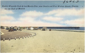 Backin Wayside Park & Lee Martin Pier, near Destin and Fort Walton Beach, Florida, on the Gulf of Mexico