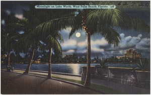 Moonlight on Lake Worth, West Palm Beach, Florida