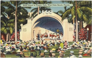 Bandstand at Flagler Park, West Palm Beach, Florida