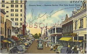 Clematis Street- Business section, West Palm Beach, Florida