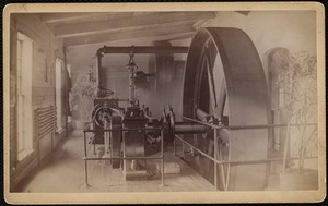 Crescent Worsted Mill. Engine room