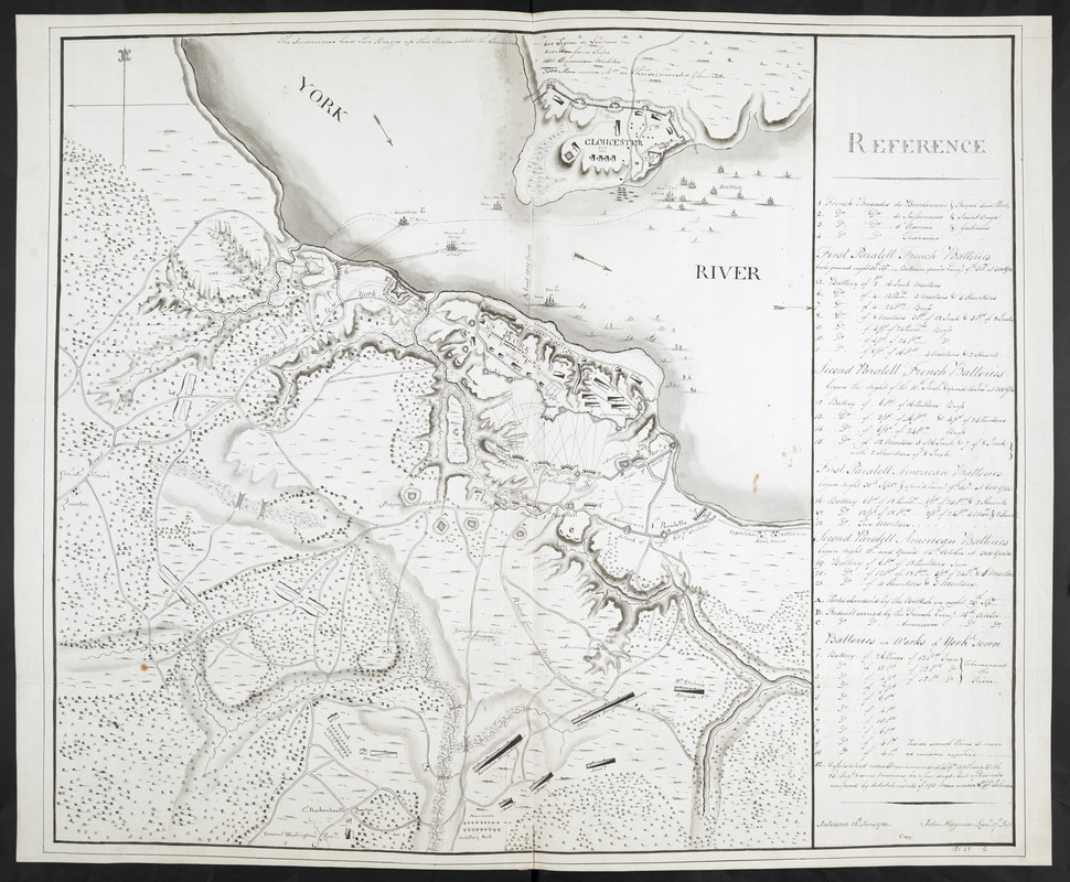 [Map showing the attack of the French upon York in Virginia, June 1782]
