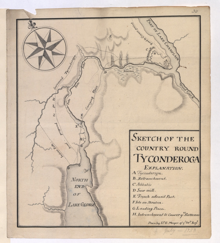 SKETCH OF THE COUNTRY ROUND TYCONDEROGA