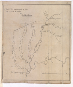 A SKETCH of the Ouabache &c from Post Vincent to the Ohio