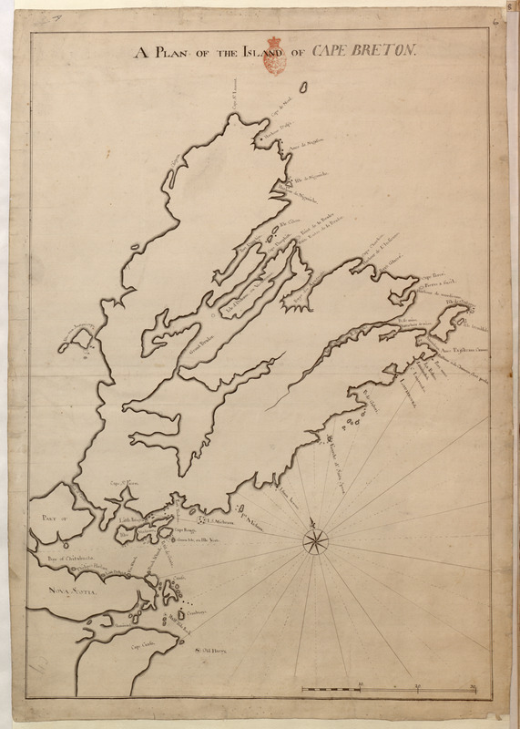 A PLAN OF THE ISLAND OF CAPE BRETON