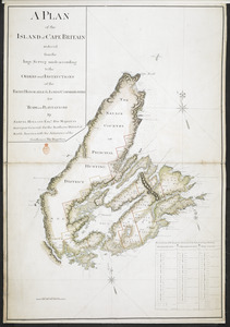 A PLAN of the ISLAND of CAPE BRITAIN reduced from the large Survey made according to the ORDERS and INSTRUCTIONS of the RIGHT HONORABLE the LORDS COMMISSIONERS for TRADE and PLANTATIONS