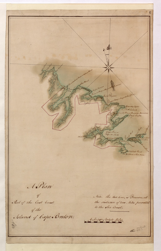 A Plan of Part of the East Coast of the Island of Cape Breton