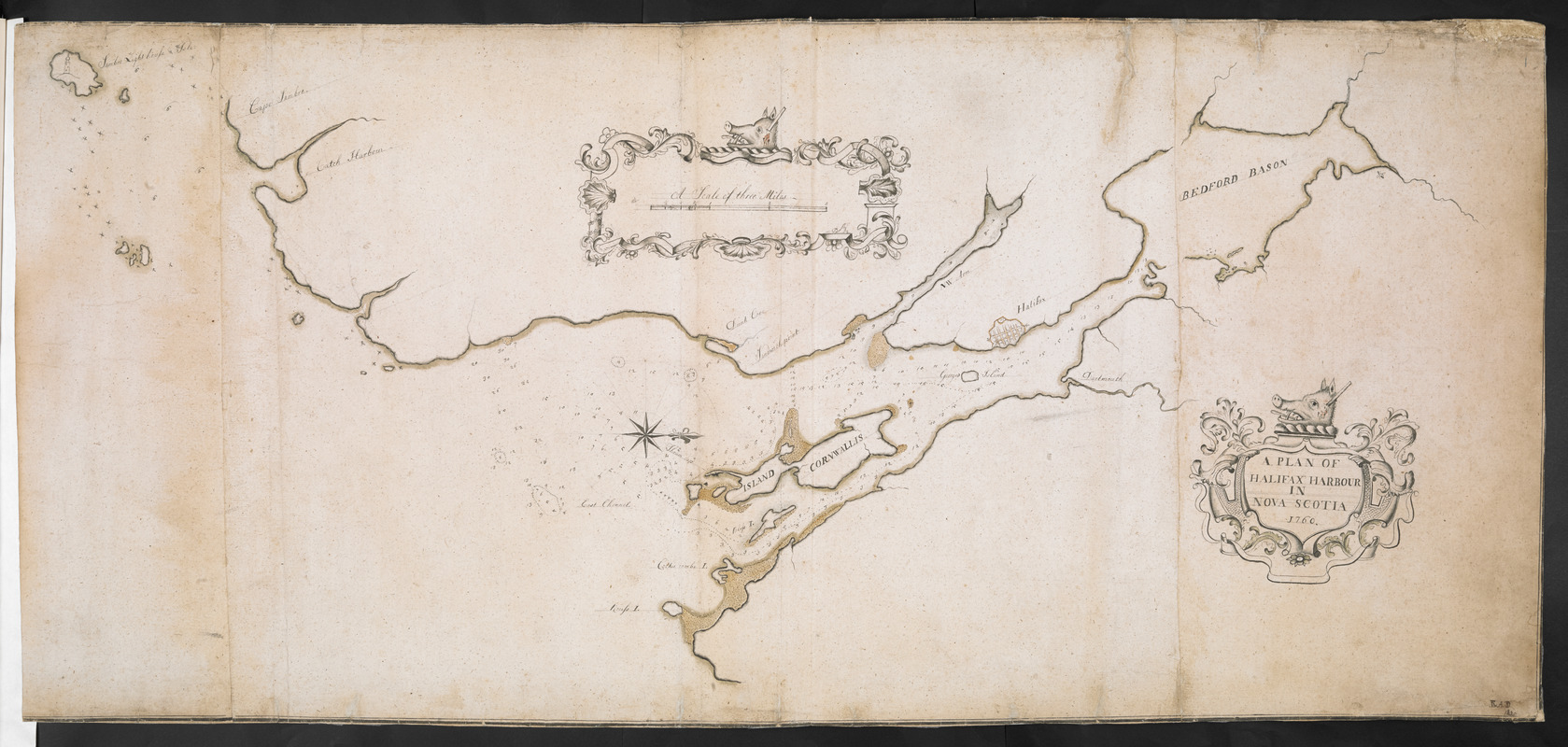 A PLAN OF HALIFAX HARBOUR IN NOVA SCOTIA 1760