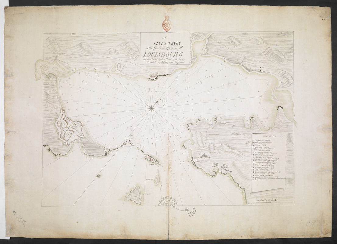 A PLAN & SURVEY of the Town and Harbour of LOUISBOURG