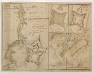 Sketch Of Part of S.t John's Harbour and River= Plan of Fort Frederick with the Necessary Alterations= Plan of the Ramainder of the French Fort= Plan of Fort Frederick built at the Entrance of S.t John's River since the 24.th Septemr 1758.= Plan Of the Situation of Fort Frederick
