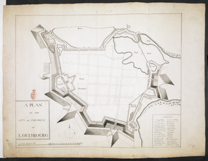 A PLAN OF THE CITY and FORTRESS OF LOUISBOURG