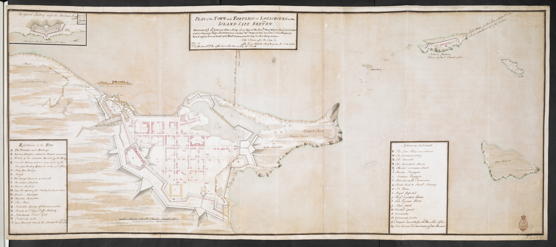 PLAN of the TOWN and FORTRESS of LOUISBOURG on the ISLAND CAPE BRETON