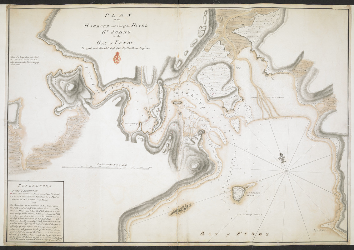 PLAN of the HARBOUR and Part of the RIVER S.T JOHNS in the BAY of FUNDY