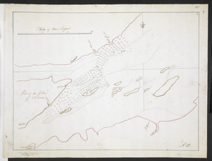 [Part of the Island of Orleans and the Saint Lawrence River]